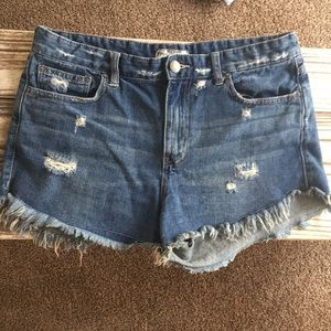 Free people high waisted distressed shorts